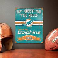 Miami Dolphins Vintage Metal Sign