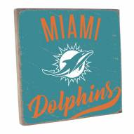Miami Dolphins Vintage Square Wall Sign
