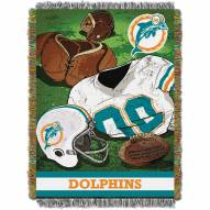 Miami Dolphins Vintage Woven Tapestry Throw Blanket