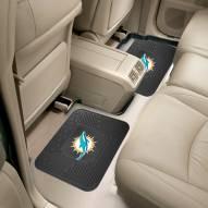 Miami Dolphins Vinyl 2-Piece Rear Floor Mats