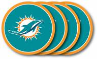 Miami Dolphins Vinyl Coaster Set