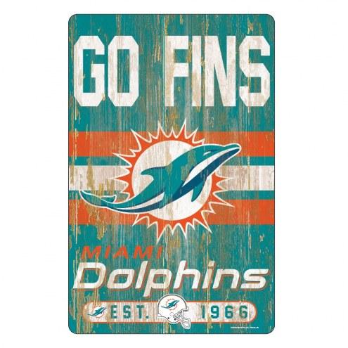 Miami Dolphins Slogan Wood Sign