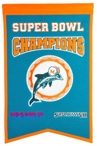 Miami Dolphins Champs Banner