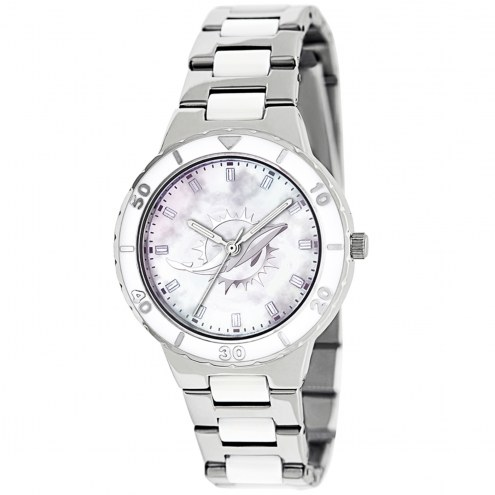 Miami Dolphins Womens Pearl Watch