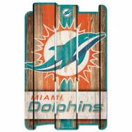 Miami Dolphins Wood Fence Sign