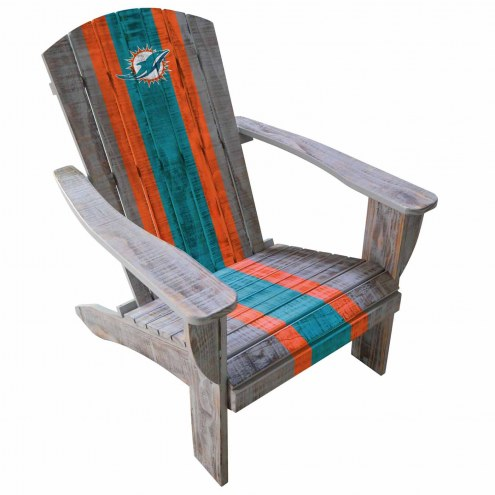 Miami Dolphins Wooden Adirondack Chair