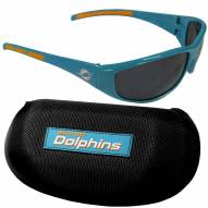 Miami Dolphins Wrap Sunglasses and Case Set