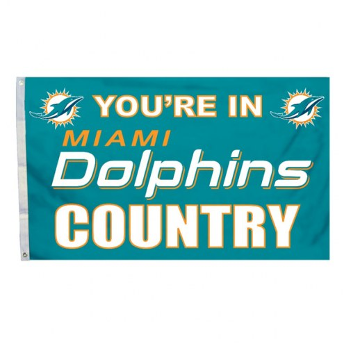 "Miami Dolphins ""You're In Dolphins Country"" Flag"