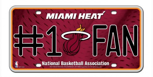 Miami Heat #1 Fan License Plate