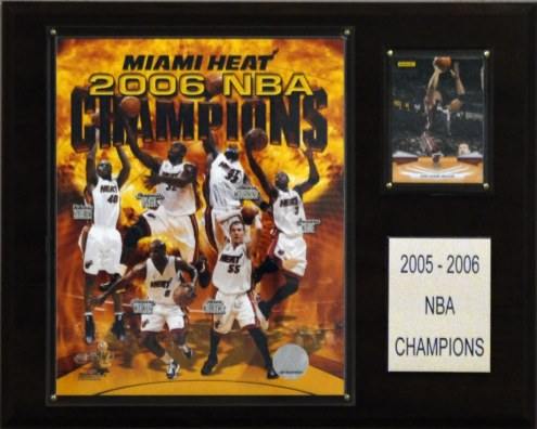 "Miami Heat 12"" x 15"" 2006 NBA Champions Plaque"