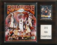 "Miami Heat 12"" x 15"" 2012 NBA Champions Plaque"