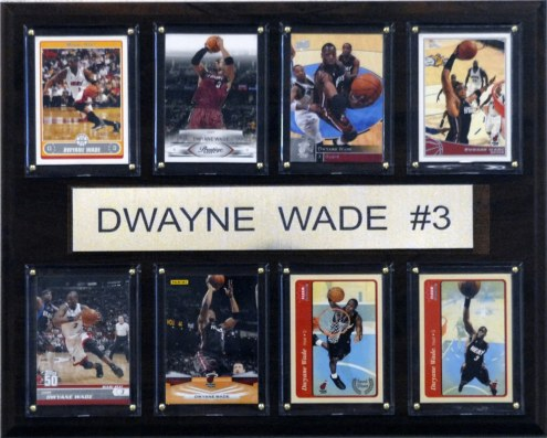 "Miami Heat 12"" x 15"" Dwyane Wade 8 Card Plaque"