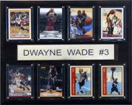 "Miami Heat 12"" x 15"" Dwyane Wade 8 Card Plaque"