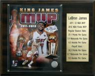 "Miami Heat 12"" x 15"" LeBron James 2011-12 MVP Plaque"