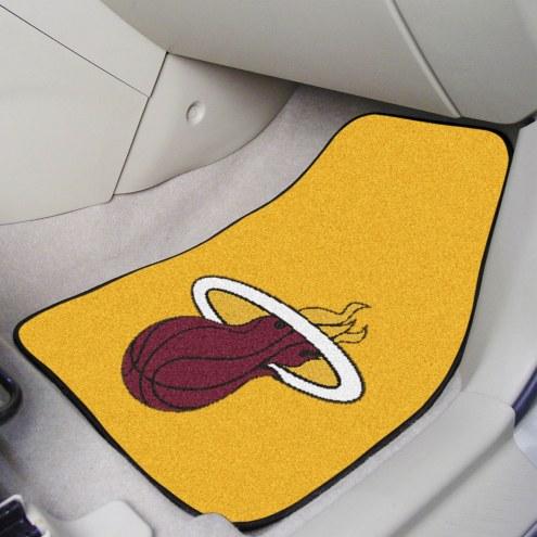 Miami Heat 2-Piece Carpet Car Mats