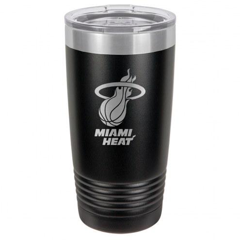 Miami Heat 20 oz. Black Stainless Steel Polar Tumbler
