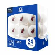 Miami Heat 24 Count Ping Pong Balls