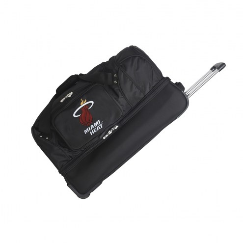 "Miami Heat 27"" Drop Bottom Wheeled Duffle Bag"