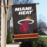 Miami Heat Applique 2-Sided Banner Flag