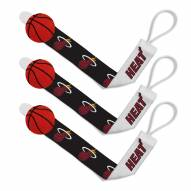 Miami Heat Baby Pacifier Clips