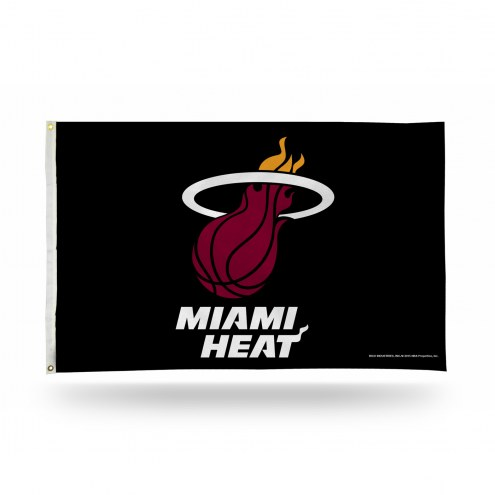 Miami Heat Black 3' x 5' Banner Flag