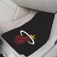 Miami Heat Black 2-Piece Carpet Car Mats