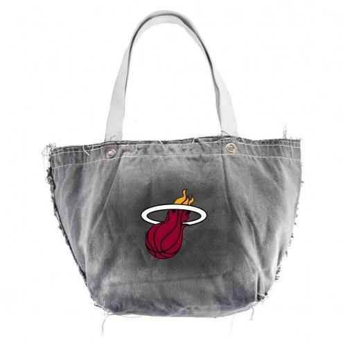 Miami Heat Black NBA Vintage Tote Bag