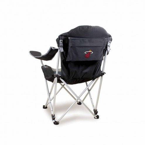 Miami Heat Black Reclining Camp Chair