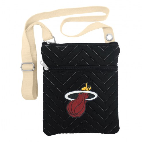 Miami Heat Chevron Stitch Crossbody Bag