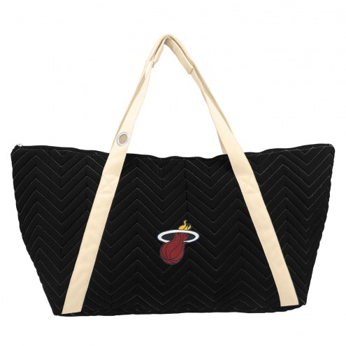 Miami Heat Chevron Stitch Weekender Bag