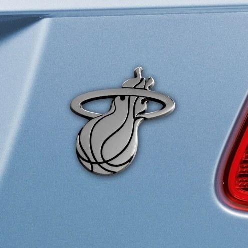 Miami Heat Chrome Metal Car Emblem