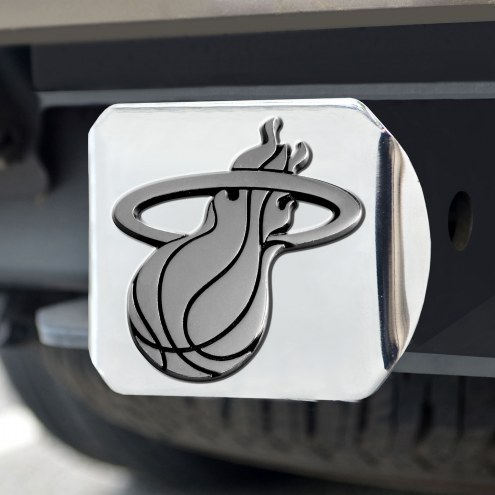 Miami Heat Chrome Metal Hitch Cover