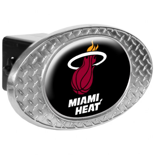 Miami Heat Metal Diamond Plate Trailer Hitch Cover