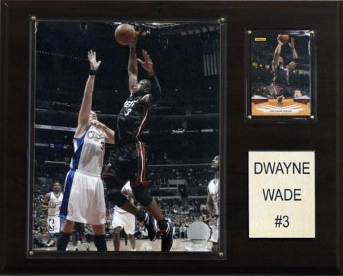 "Miami Heat Dwyane Wade 12"" x 15"" Player Plaque"