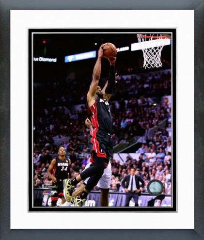 Miami Heat Dwyane Wade NBA Finals Action Framed Photo