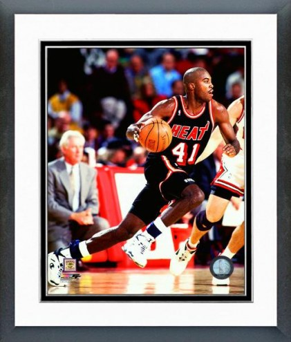 Miami Heat Glen Rice Action Framed Photo