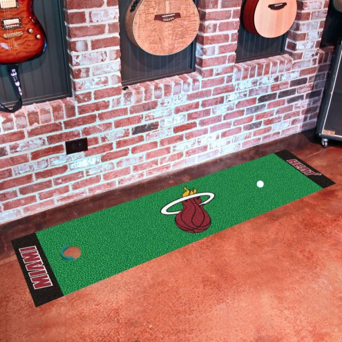Miami Heat Golf Putting Green Mat
