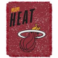 Miami Heat Headliner Woven Jacquard Throw Blanket