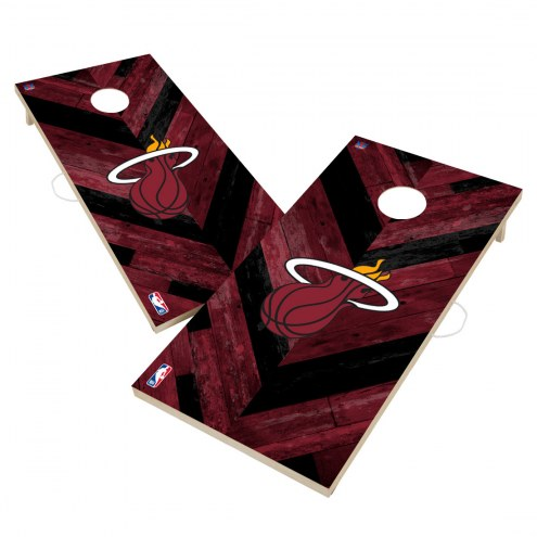 Miami Heat Herringbone Cornhole Game Set