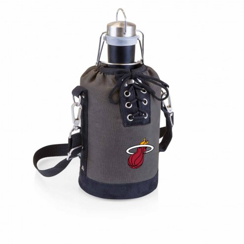 Miami Heat Insulated Growler Tote with 64 oz. Stainless Steel Growler