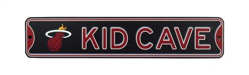 Miami Heat Kid Cave Street Sign