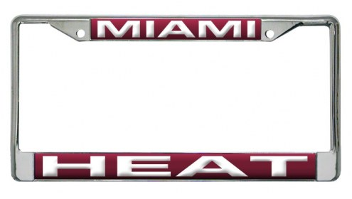 Miami Heat Laser Cut License Plate Frame