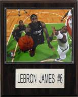 "Miami Heat LeBron James 12"" x 15"" Player Plaque"