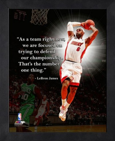 Miami Heat LeBron James Framed Pro Quote
