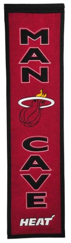Miami Heat Man Cave Banner