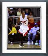 Miami Heat Mario Chalmers 2014-15 Action Framed Photo