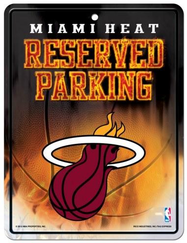 Miami Heat Metal Parking Sign
