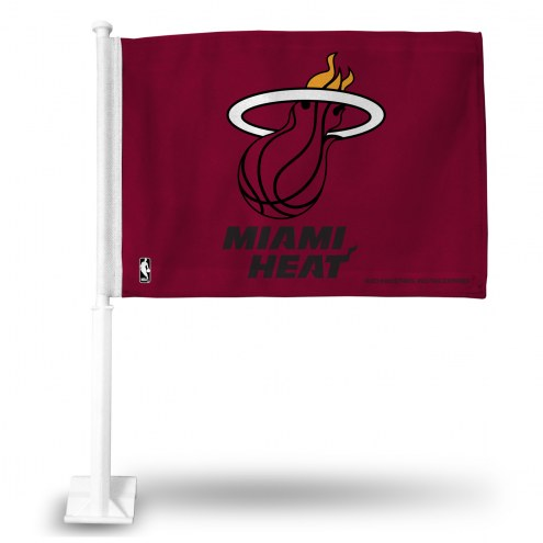 Miami Heat Red Car Flag