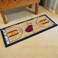 Miami Heat NBA Court Large Runner