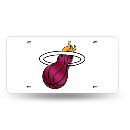Miami Heat NBA Laser Cut License Plate
